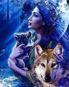 Frau Mit Wolf Wallpapers