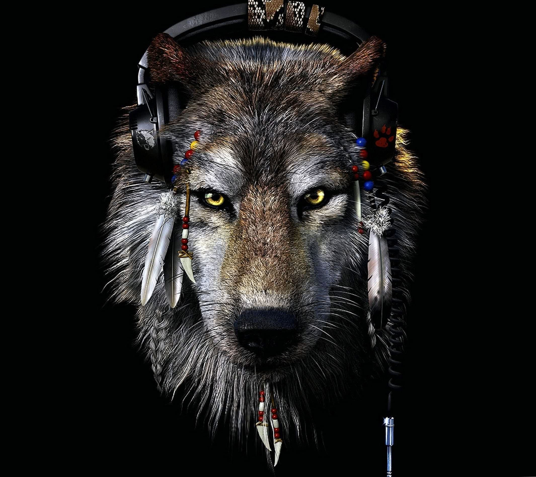 Native Indian Wolf Wallpaper