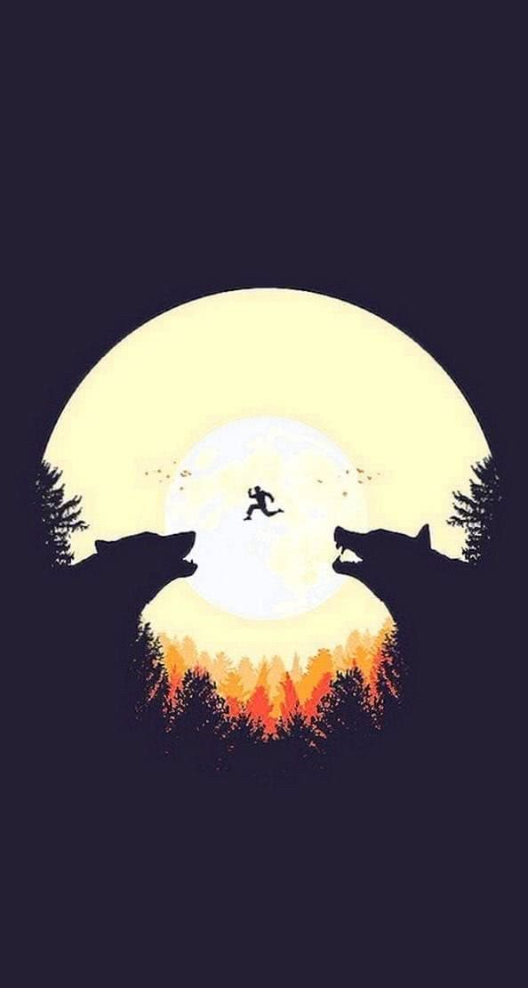 Howling Wolf iPhone Wallpapers