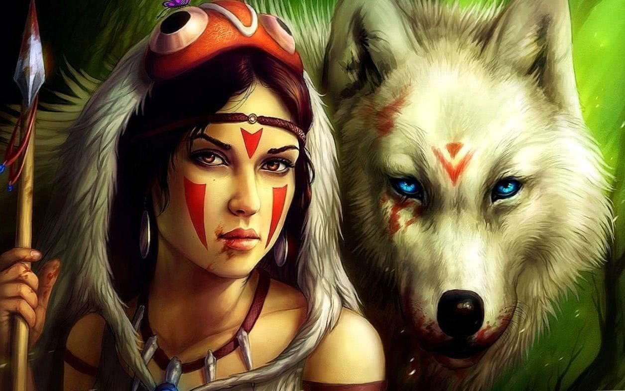 Indian Wolf Girl Wallpapers