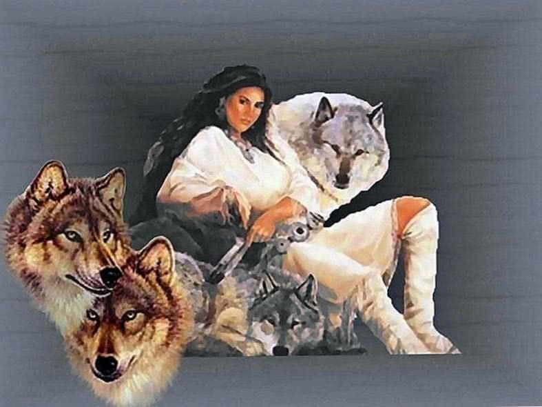 Wallpapers Of Native Indian Wolf