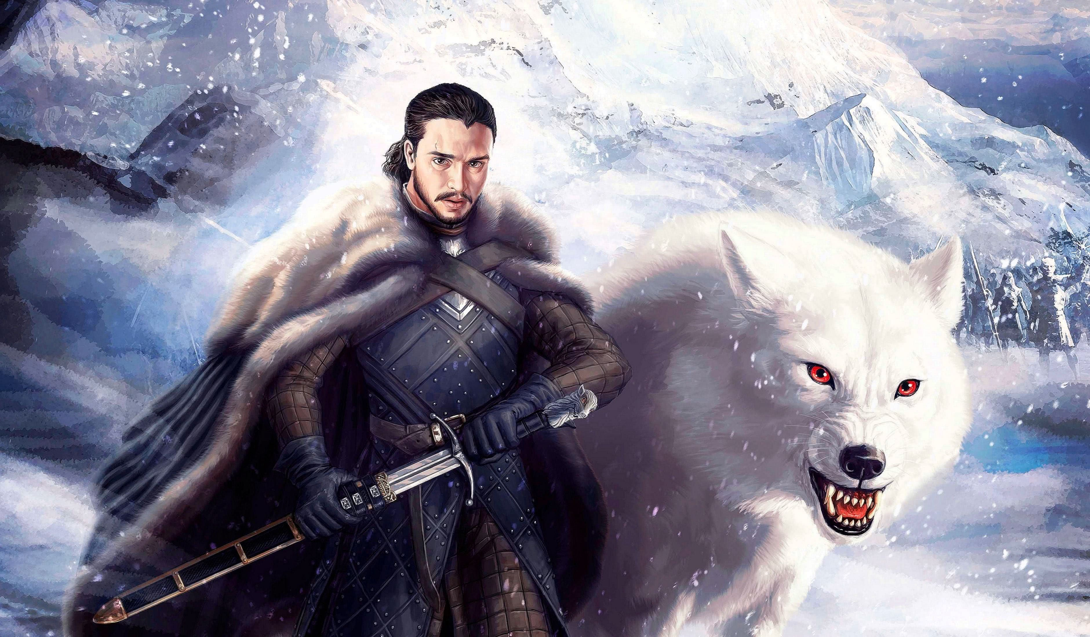Jon Snow Wolf Wallpapers - Wolf