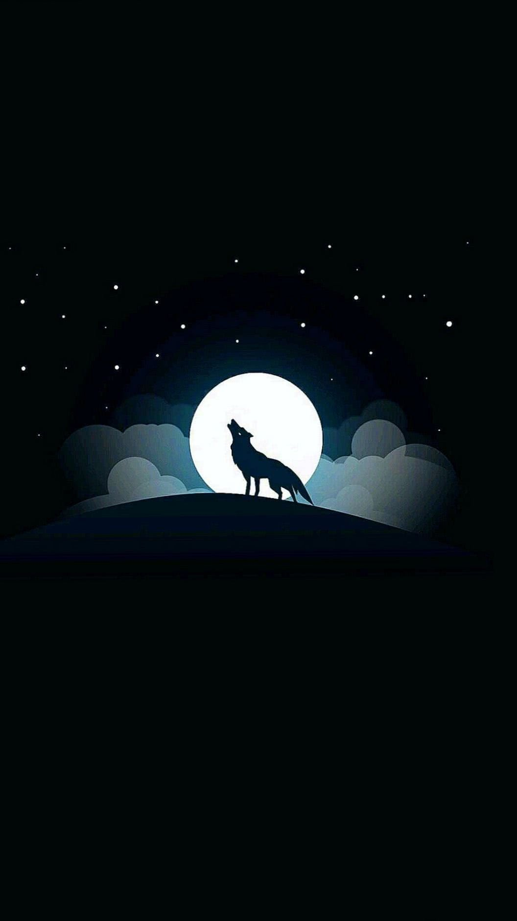 Wolf Moon Mobile Wallpaper