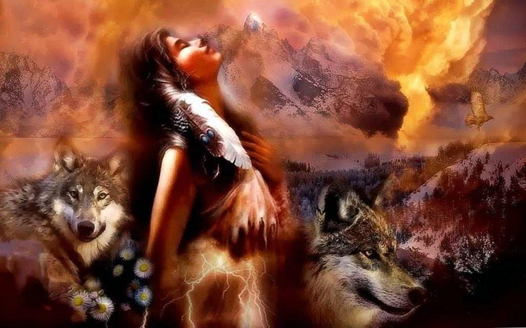 Wolf Frau Wallpapers