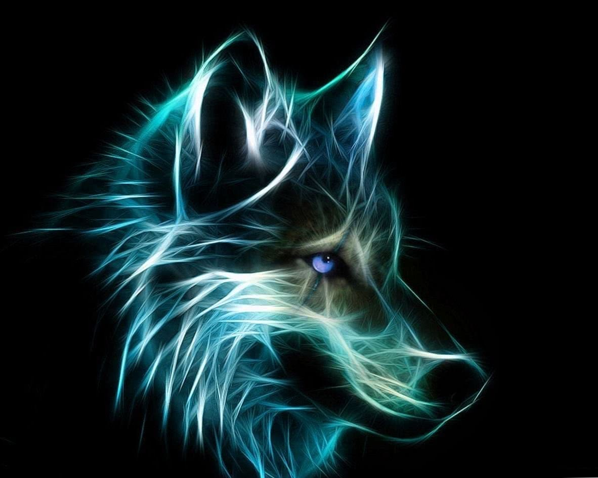Cool Neon Wolf Wallpapers