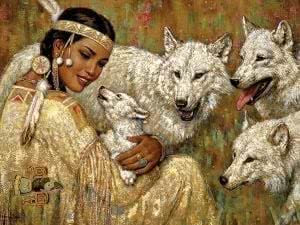 Native American Wolf Art Wallpapers