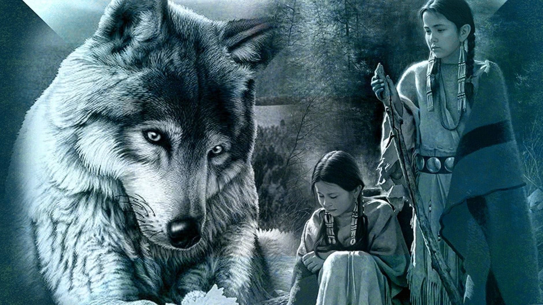 Native American And Wolf Wallpapers Wolf Wallpapers Pro
