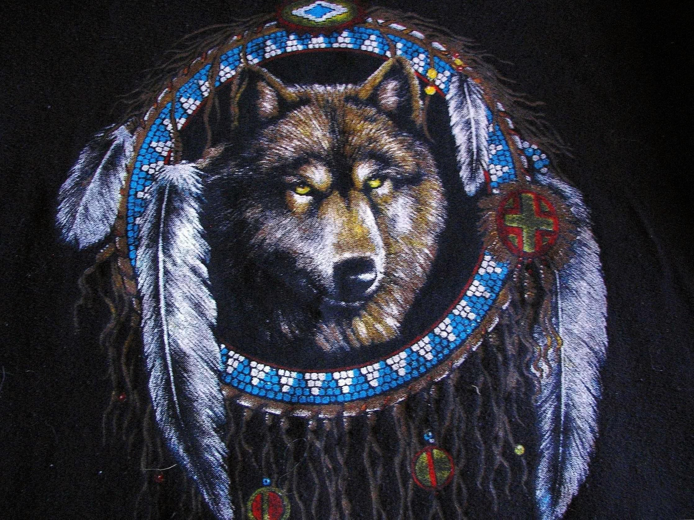 HD Wallpapers Native American Wolf