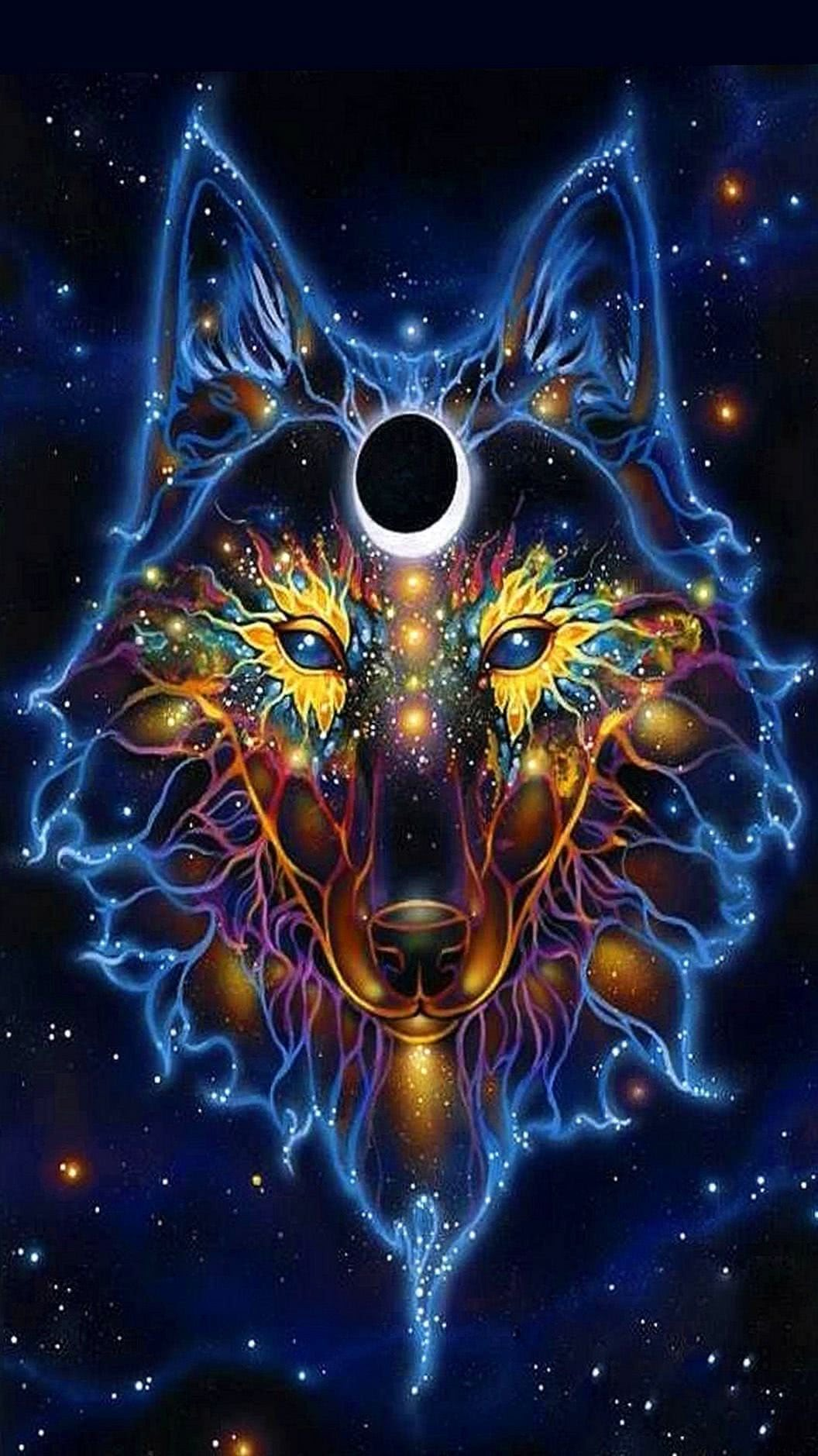 Free Wallpapers Neon Wolf Wolf Wallpapers Pro