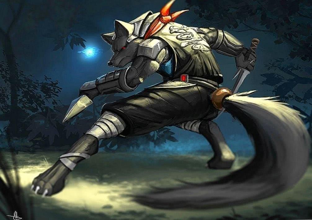 Ninja Wolf Wallpaper