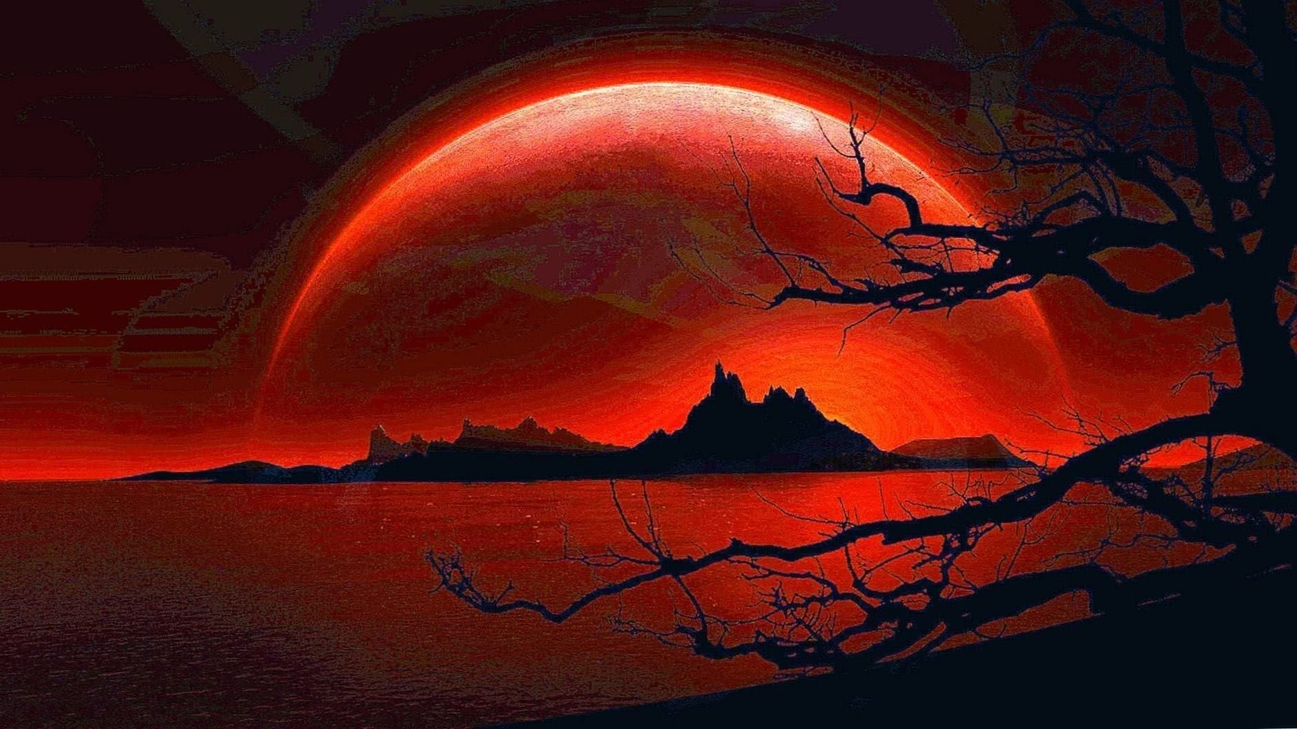 Wolf Blood Moon Wallpapers