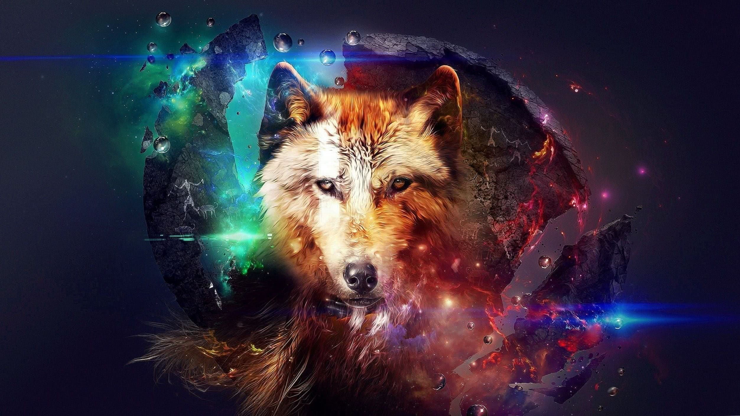 Wolf Wallpaper Space