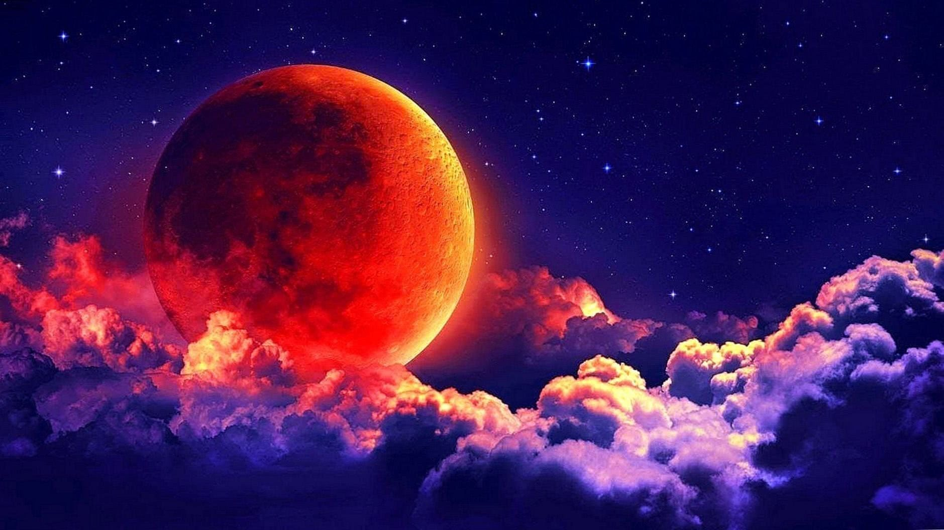 Super Blood Wolf Moon Wallpapers