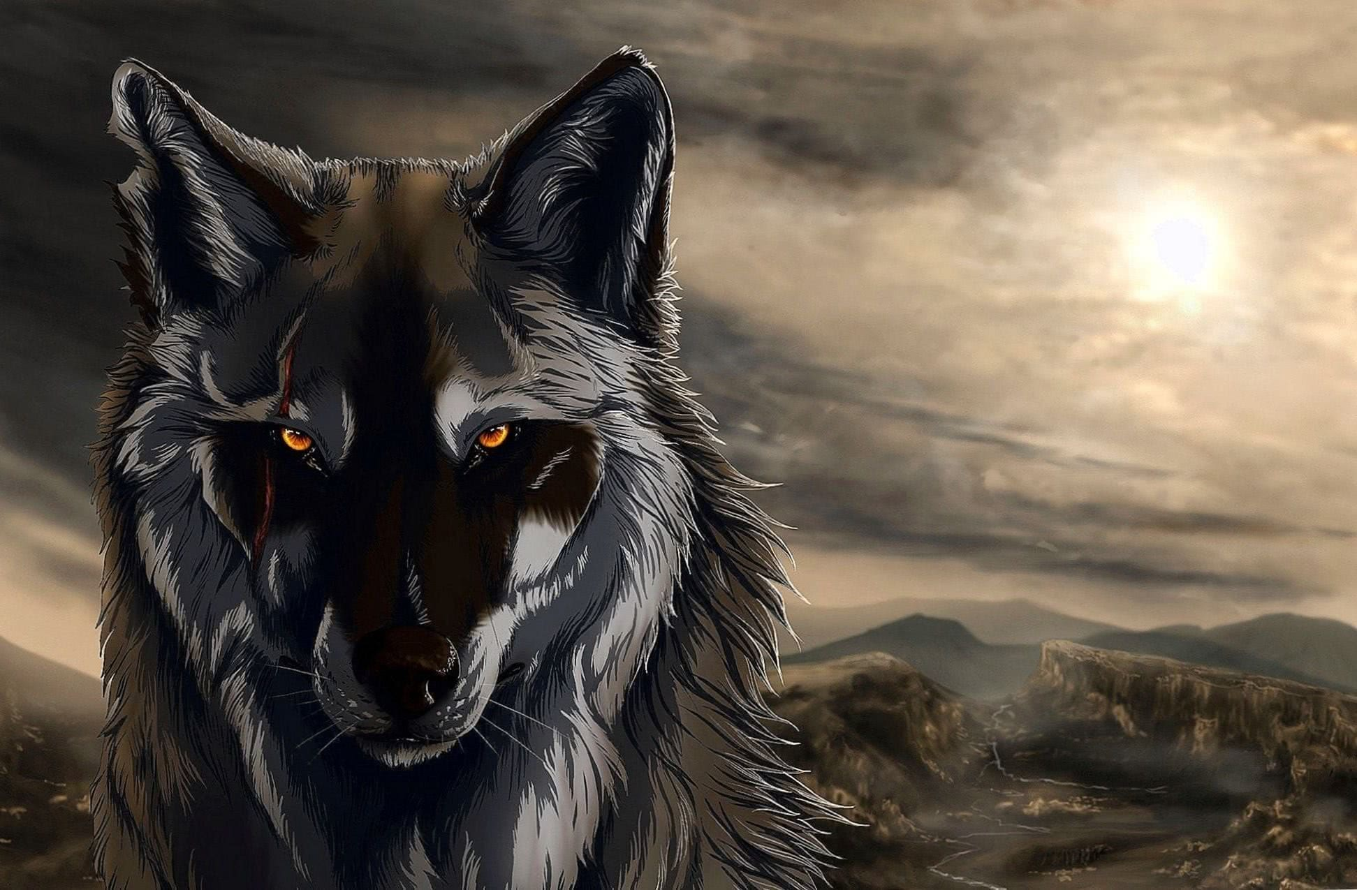 The Rise Of Black Wolf HD Wallpaper