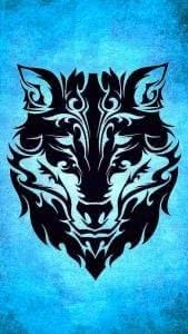 Tribal Wolf iPhone Wallpapers