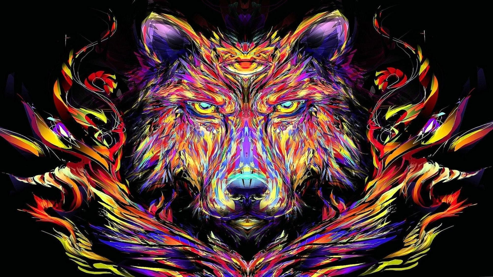 Wolf Trippy Wallpaper