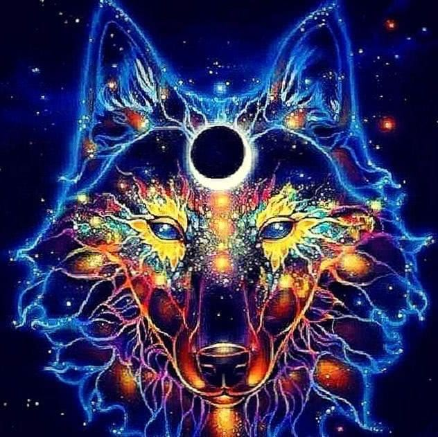 Wolf Trippy Wallpaper