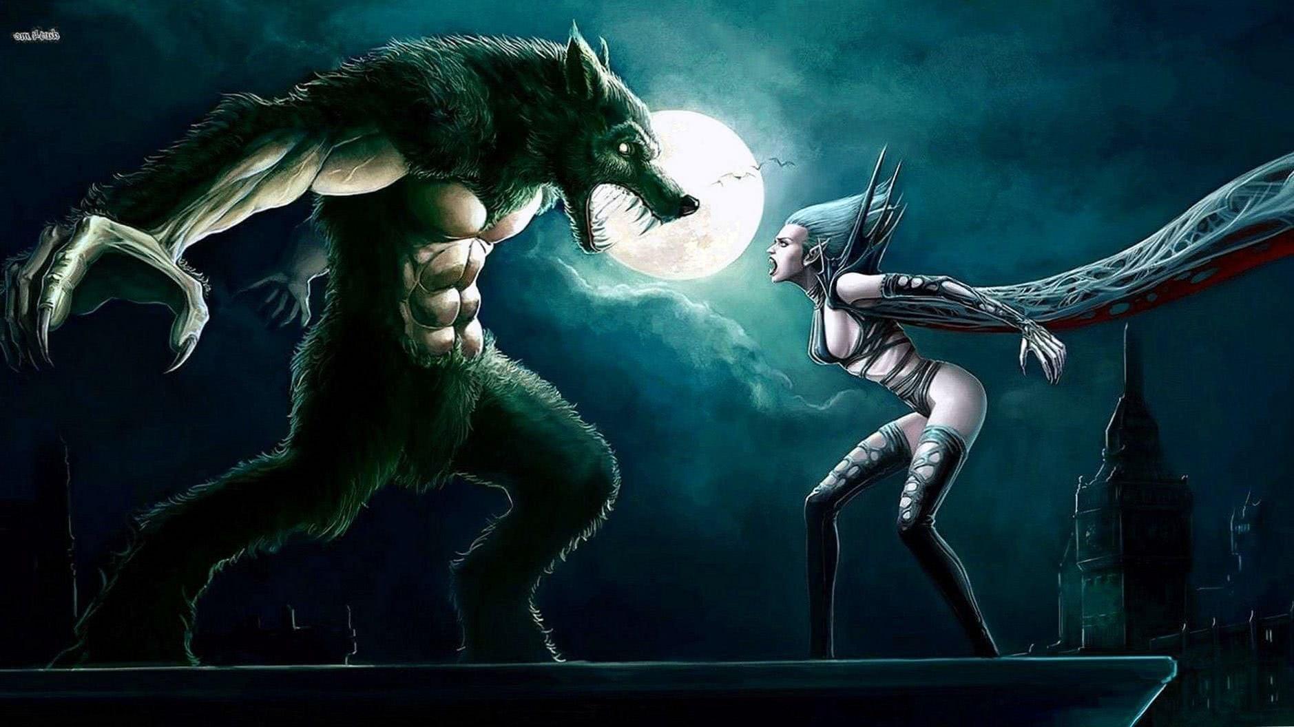 Vampire And Werewolf Wallpapers
