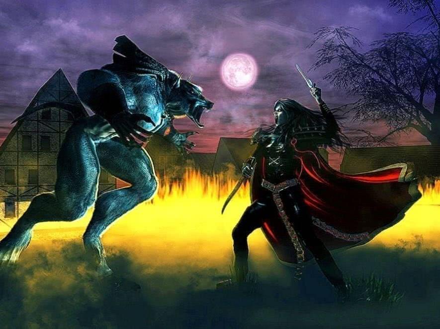 Werewolf Vs Vampire HD Wallpaper