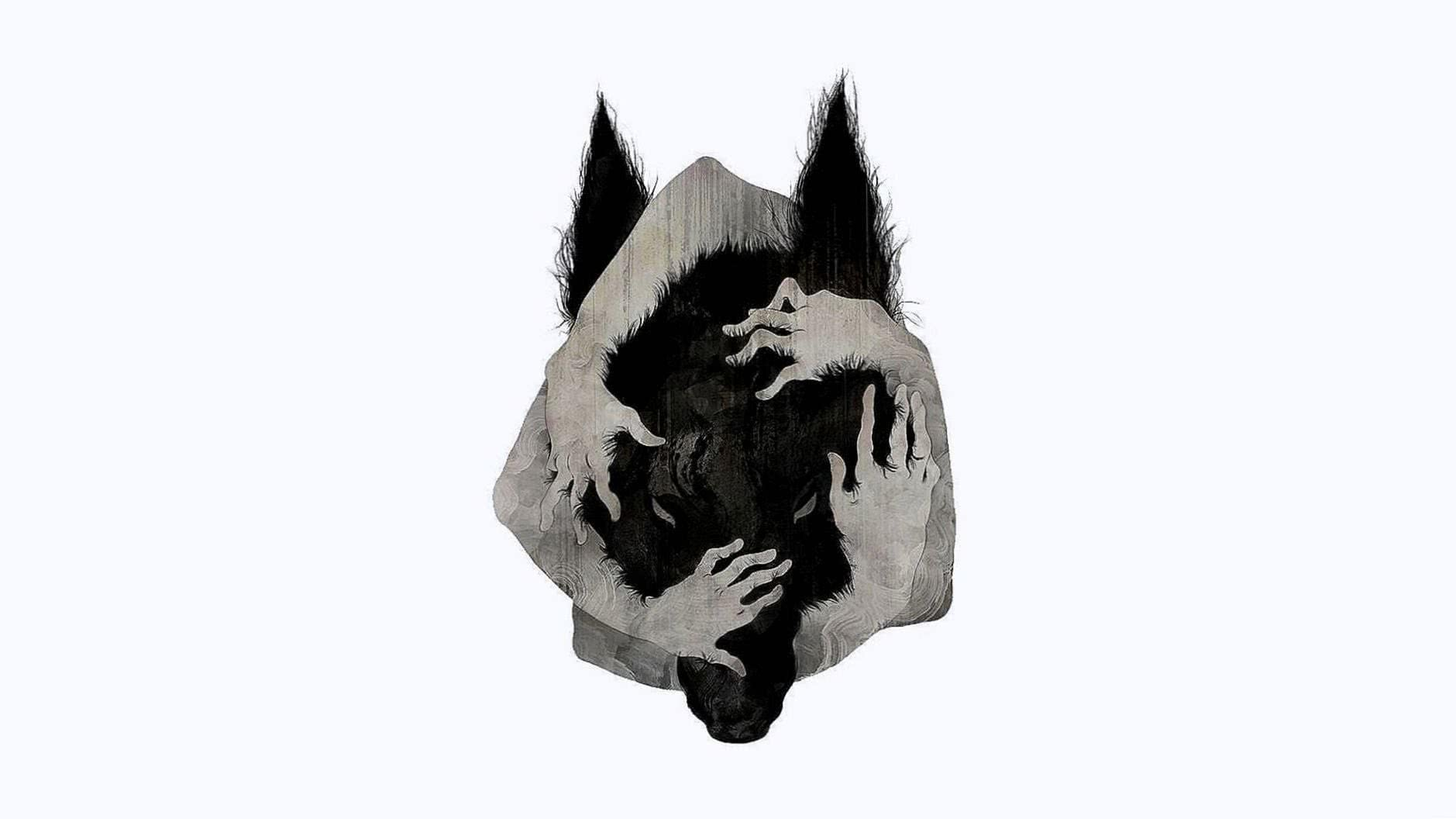 Wolf Head Art Wallpaper