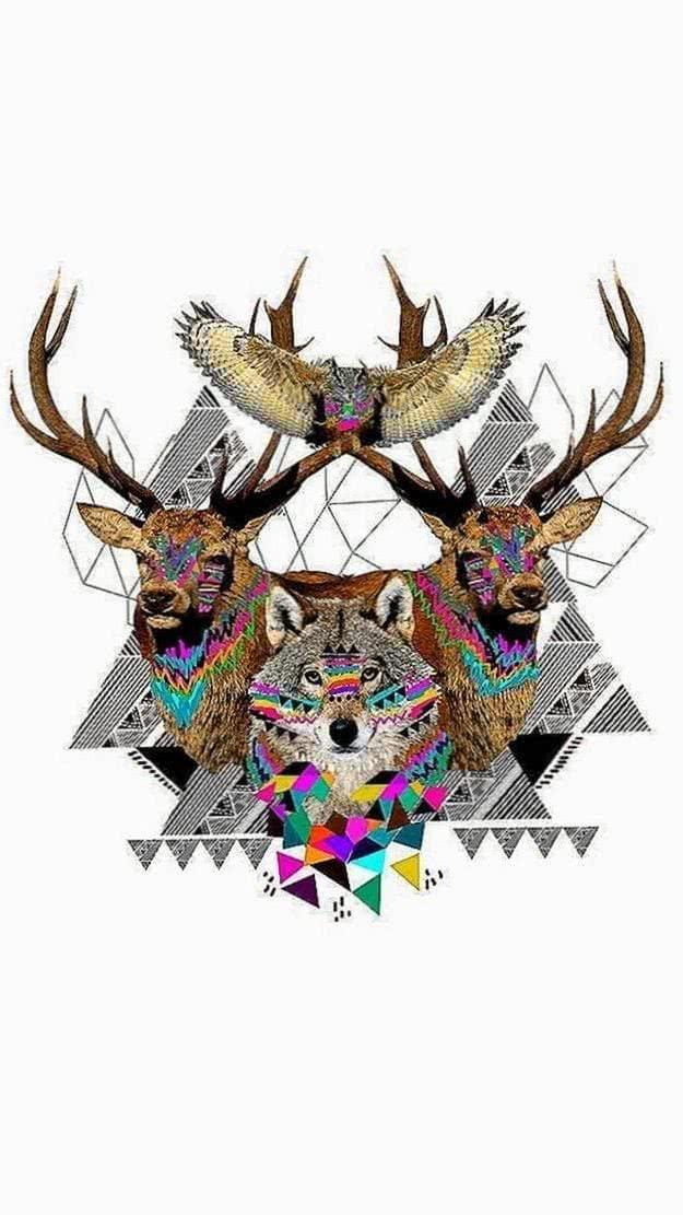 Wallpapers Geometric Wolf