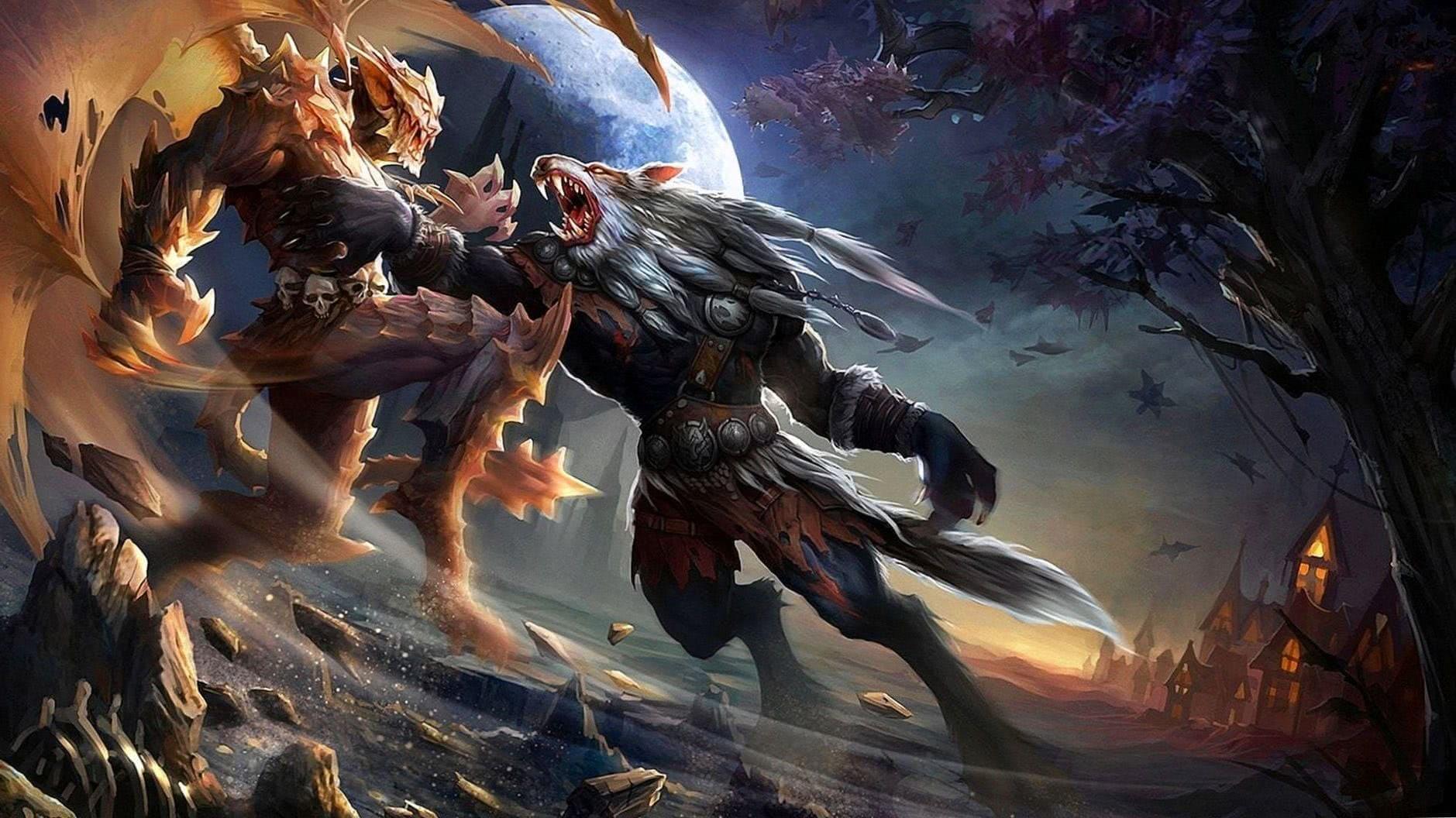 Vampire Werewolf HD Wallpaper