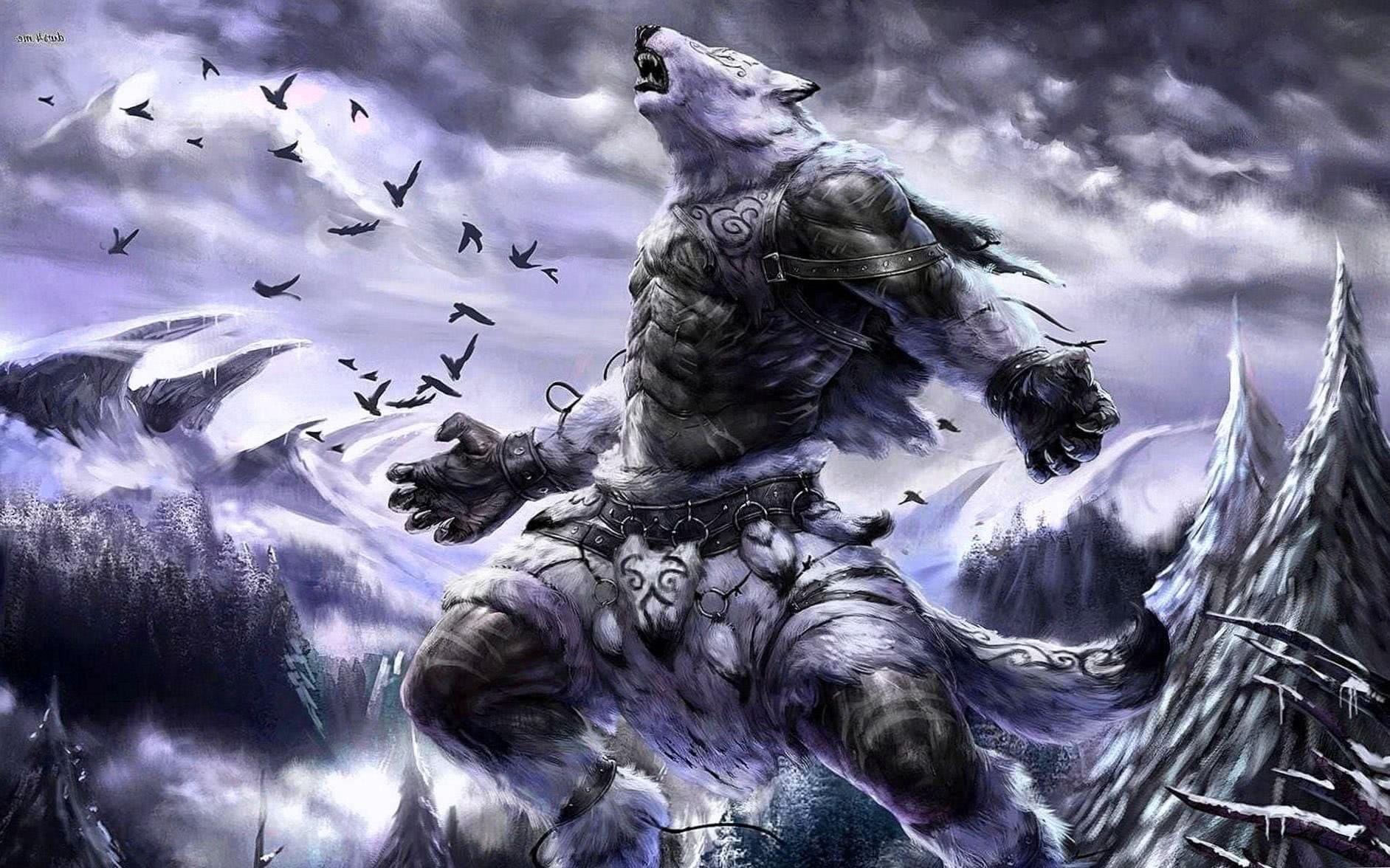 Desktop Wallpaper Werewolf