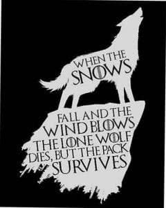 The Lone Wolf Dies But The Pack Survives Wallpapers
