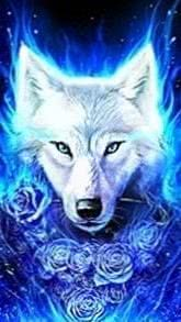 Blue Ice Wolf Wallpapers