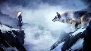 Girl Wolf Wallpapers 4K