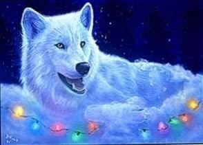 Wallpapers Wolf Christmas