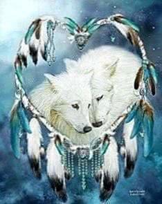 Wallpapers Dreamcatcher Wolf