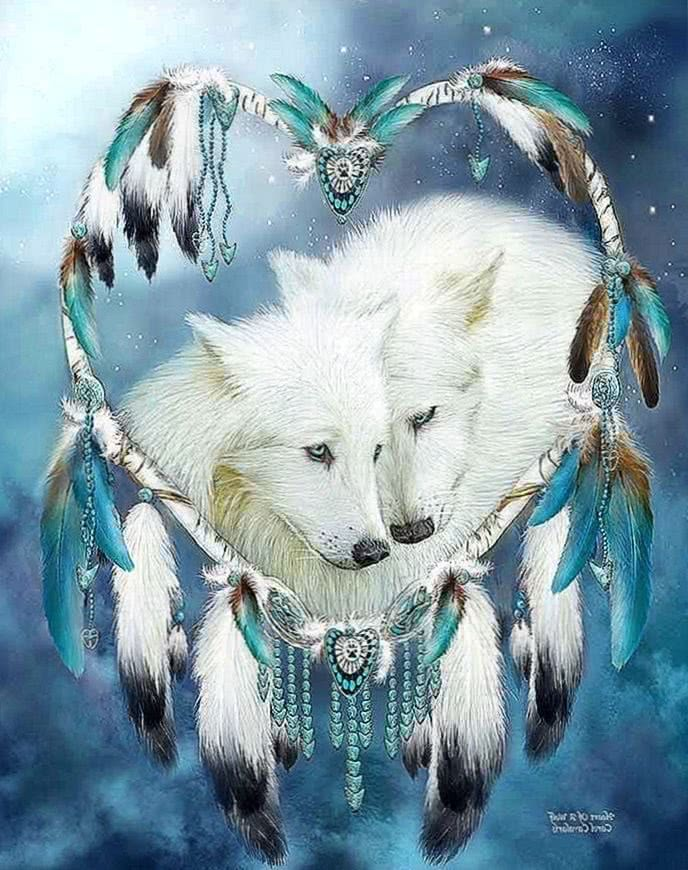 Wallpapers Dreamcatcher Wolf