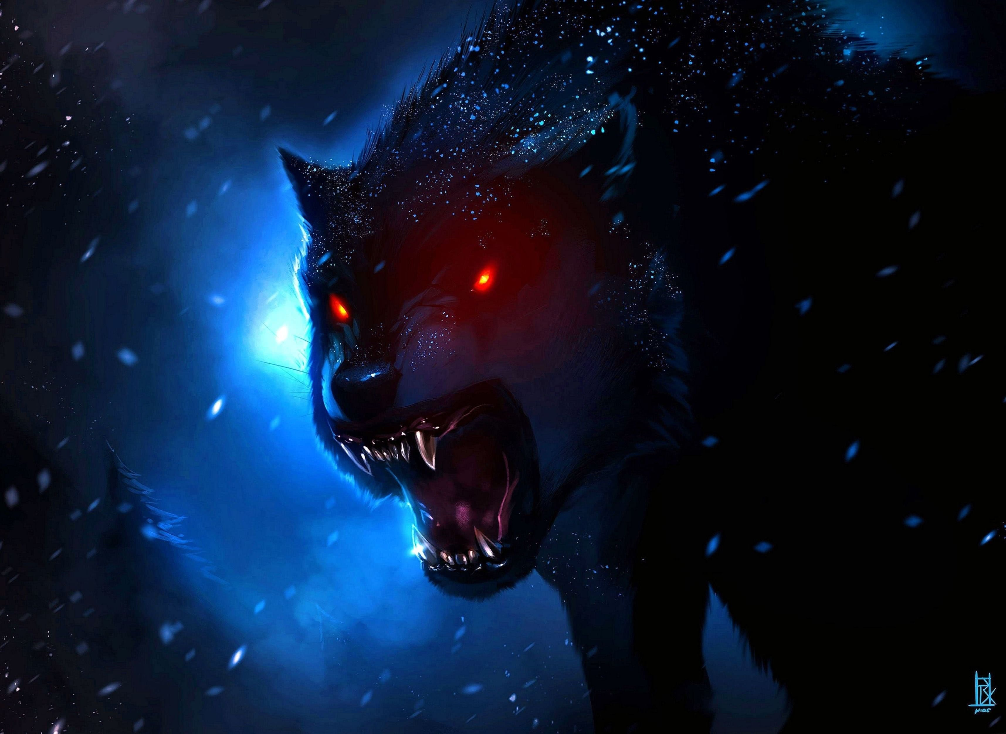 Red Eyes Wolf Wallpapers