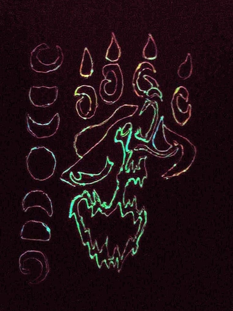 Glow In The Dark Wolf Wallpapers