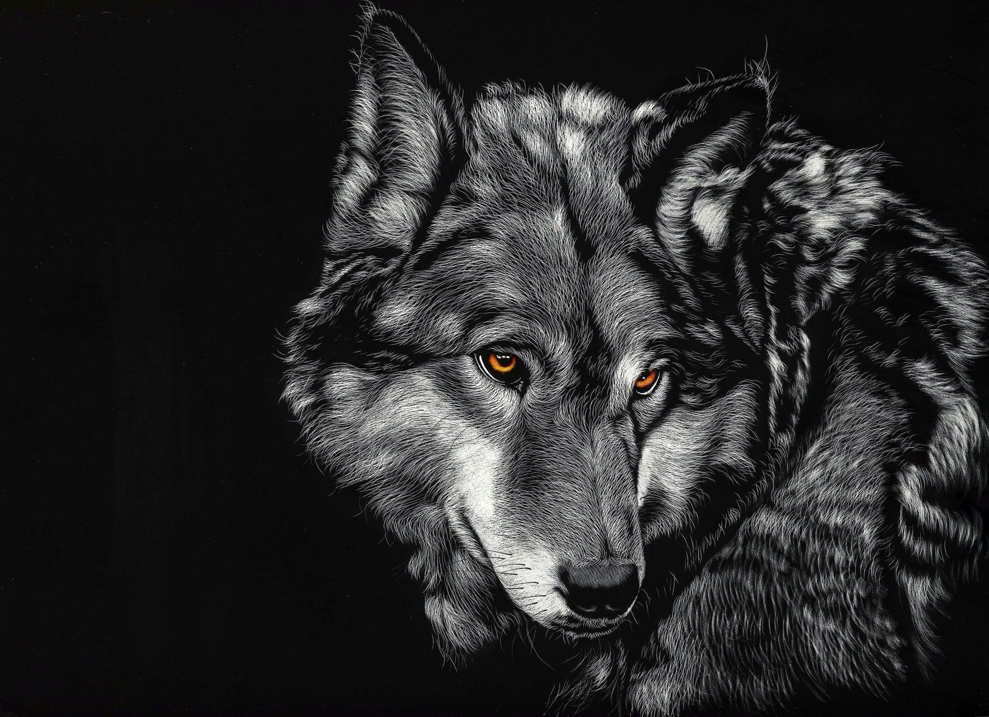 Dark Wolf Wallpaper 4K