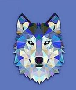 Wallpapers Wolf Polygon