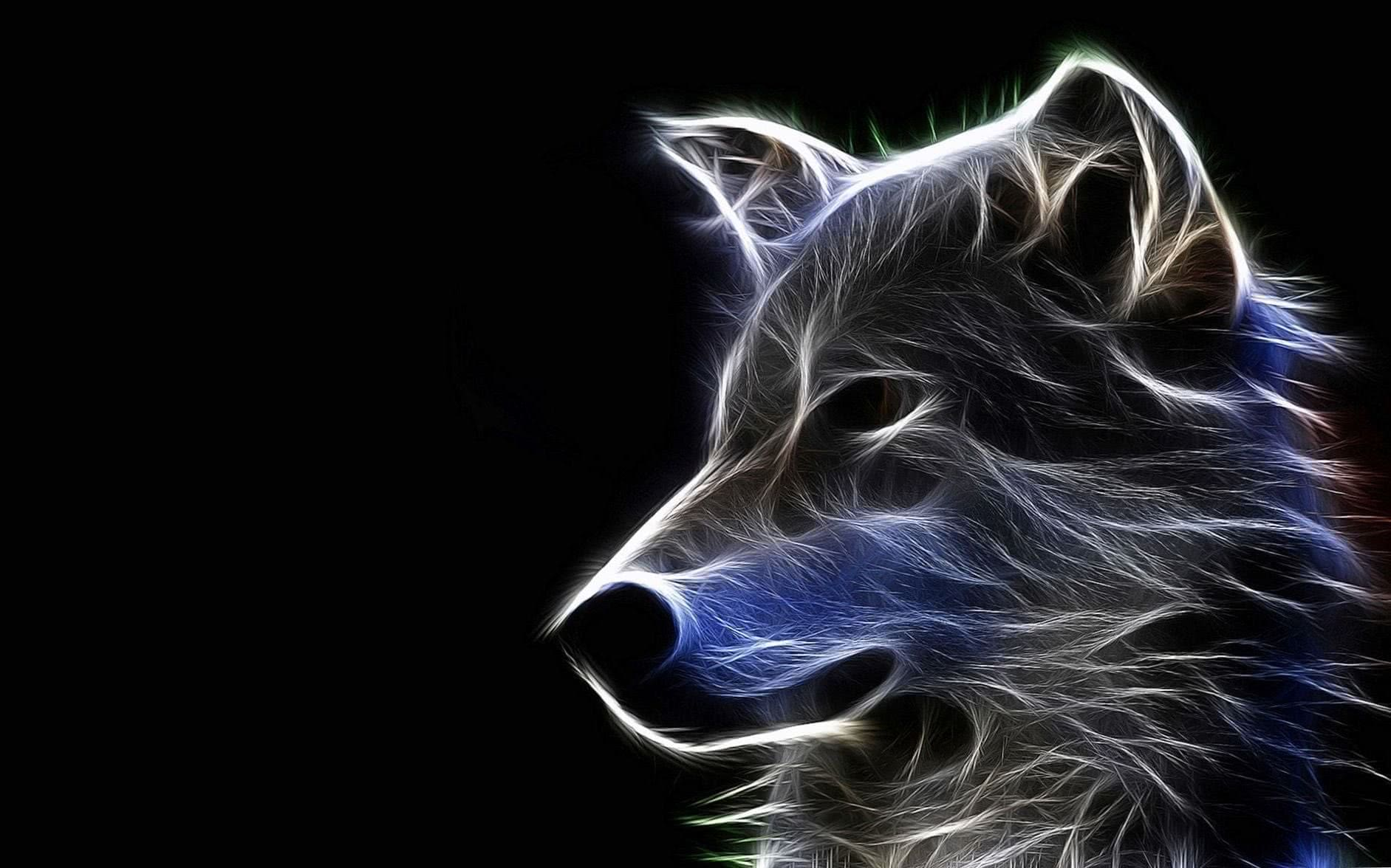 Cool Wolf Background Wallpaper