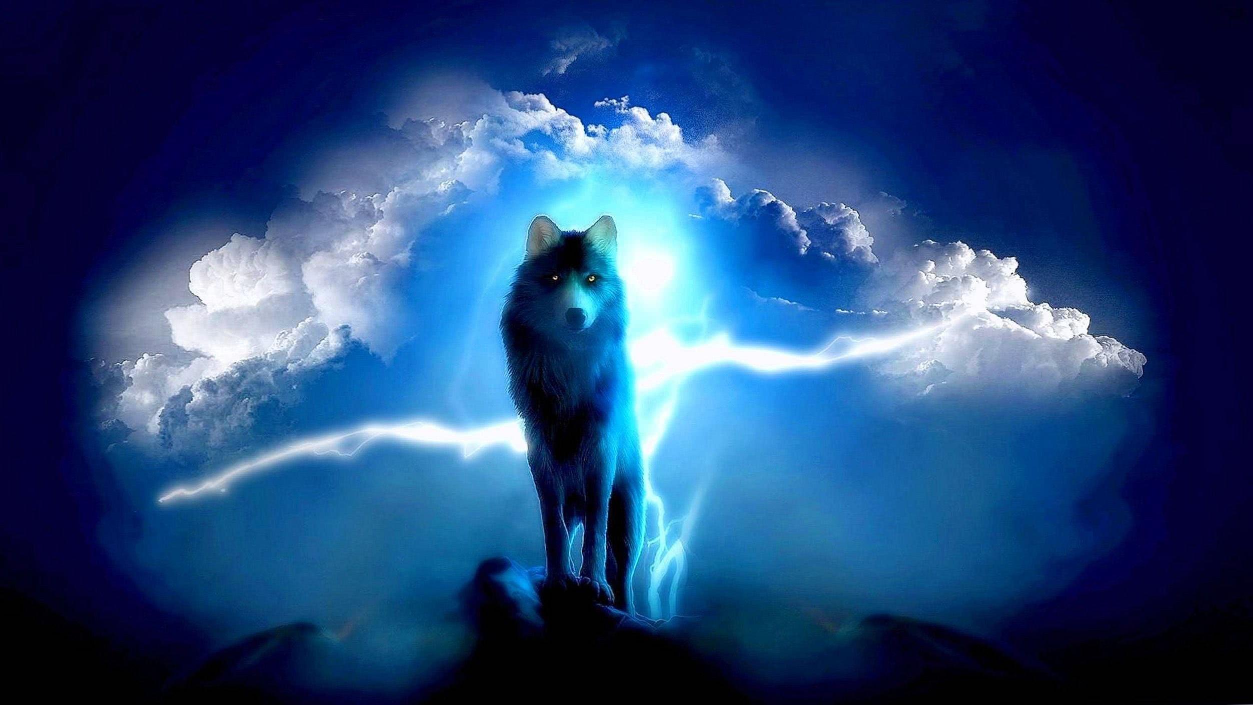 Lightning Wolf Wallpaper