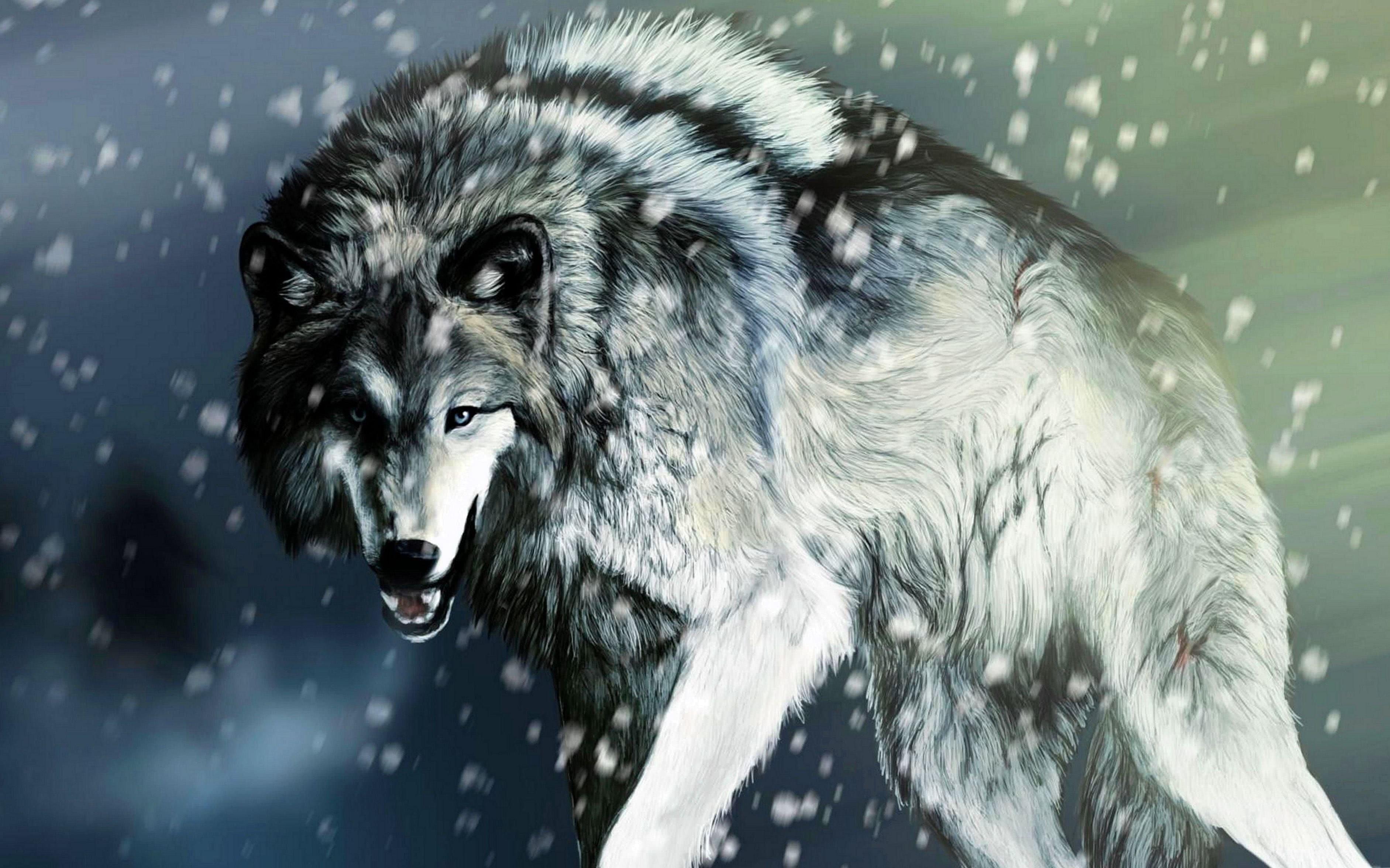 Winter Wolf Wallpaper 4K